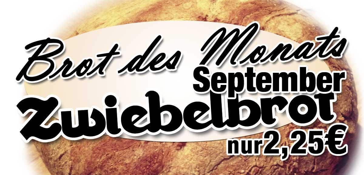 Brot des Monats – September 2013 – Zwiebelbrot – Angebot