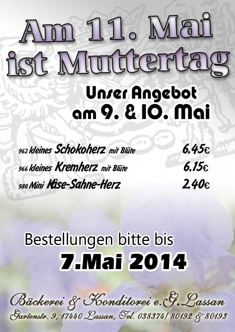 Angebot Muttertag 2014
