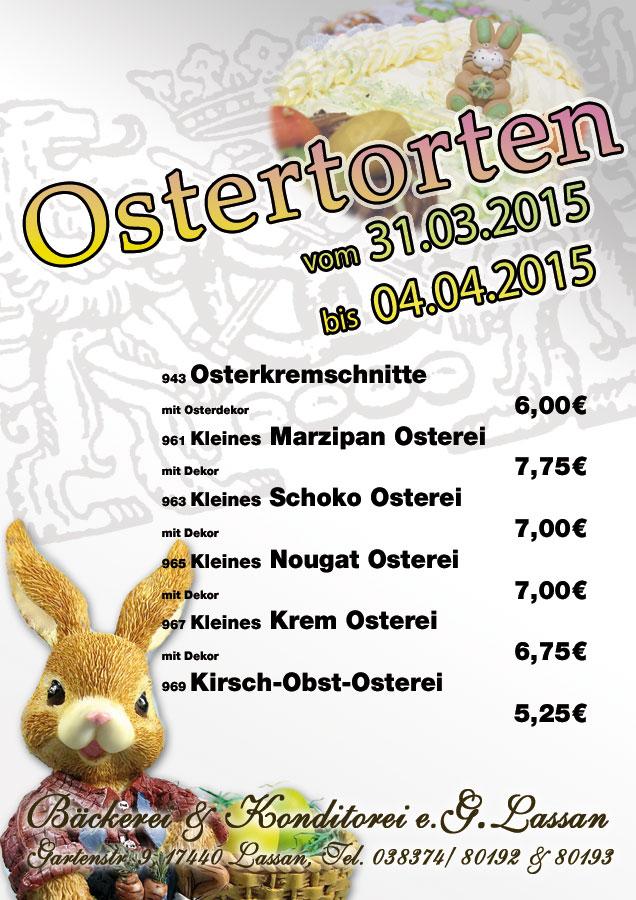 Torten zu Ostern – 2015