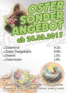 Bäckerei Konditorei Lassan Ostern 2017 Angebot Osterbrot