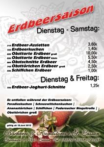 Erdbeeren Erdbeersaison Erdbeertorte 2015 Bäckerei Konditorei Lassan