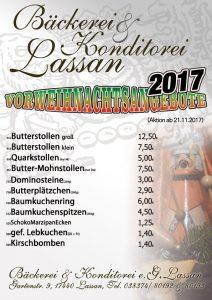 Bäckerei Konditorei Lassan Angebote Weihnachten Stollen Dominosteine