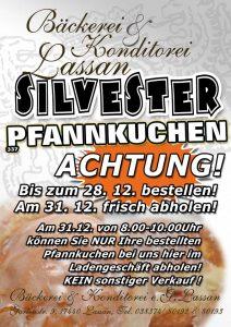 Pfannkuchen Berliner Krapfen Silvester 2017 Angebot Lassan Bäckerei Konditorei
