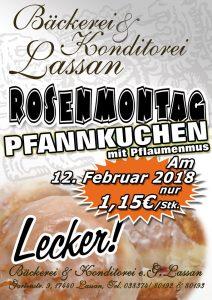 Rosenmontag 2018 Fasching Karneval Pfannkuchen Berliner Angebot