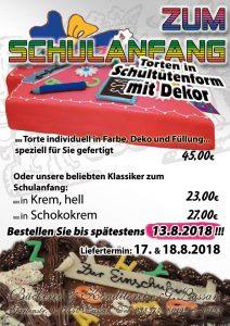Knditorei Bäckerei Schulanfang Torte 2018