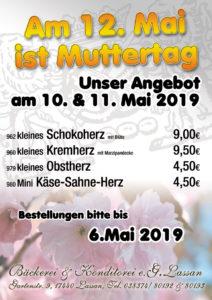 Aktion Torten Muttertag 2019