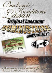 Dominosteine Bäckerei Konditorei Lassan 2019