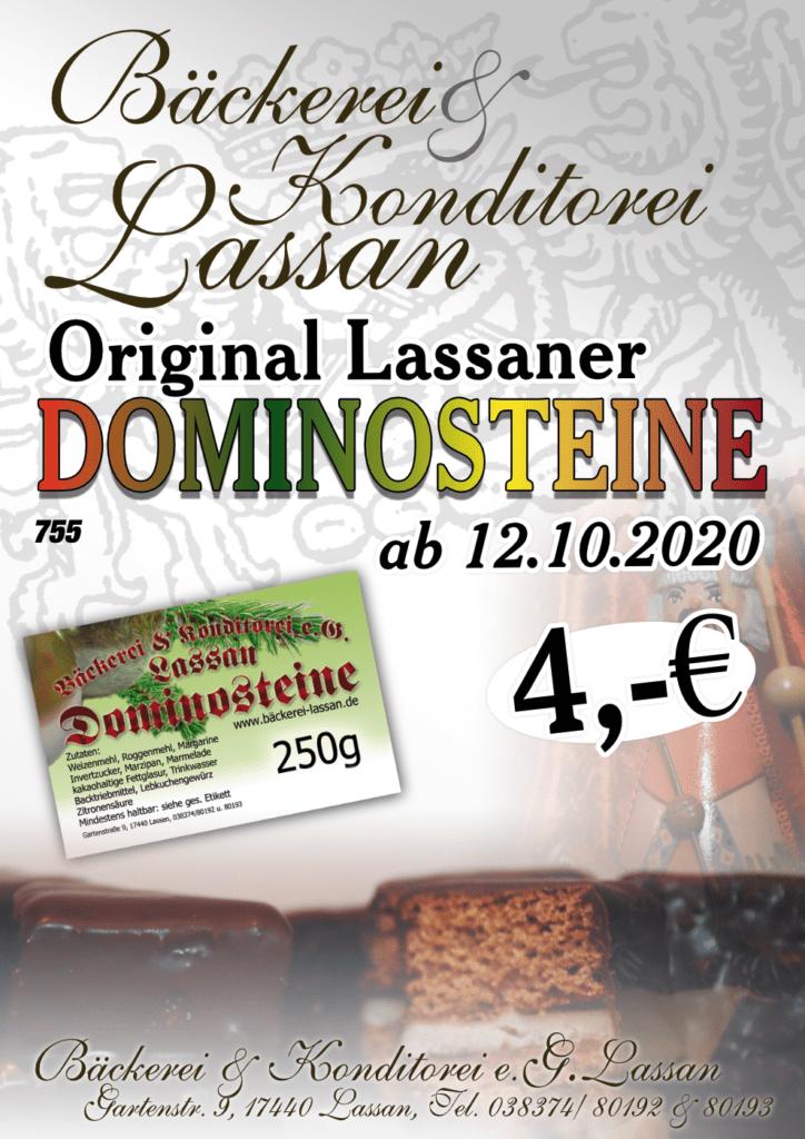 Dominosteine Bäckerei Lassan